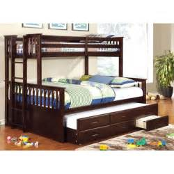 Kids Bedroom Furniture Set by Furniture Of America Rodman 2 Piece Twin Over Queen Bunk