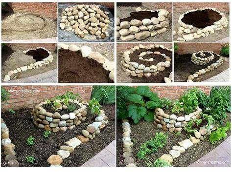 rock flower beds rock flower bed idea kids garden pinterest gardens