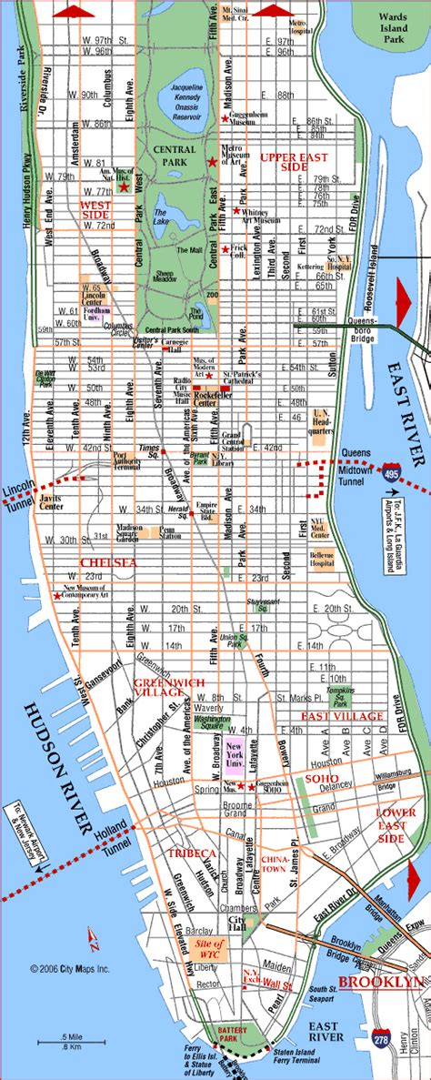 manhattan area map detailed road map of manhattan manhattan detailed road