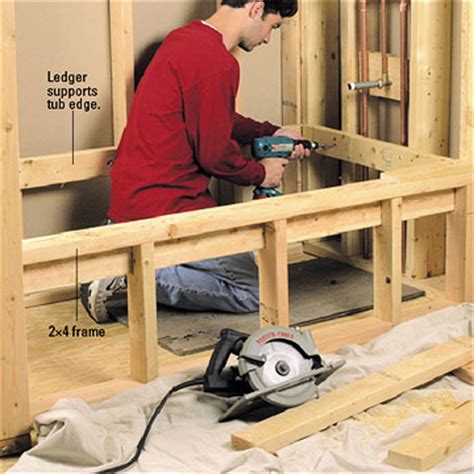 How To Build A Frame Around A Bathroom Mirror Installing A Whirlpool Tub How To Install A New Bathroom Diy Plumbing Diy Advice