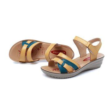 Jr Heels New Arrival 313 74 1 socofy big size soft leather buckle peep toe slippers slip