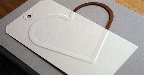 thin craft paper embossing with wafer thin dies embossed tag card