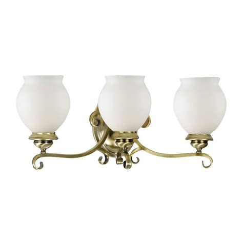 Vintage Vanity Light Shop Eurofase Beatrice 3 Light 8 5 In Antique Brass Vanity Light At Lowes