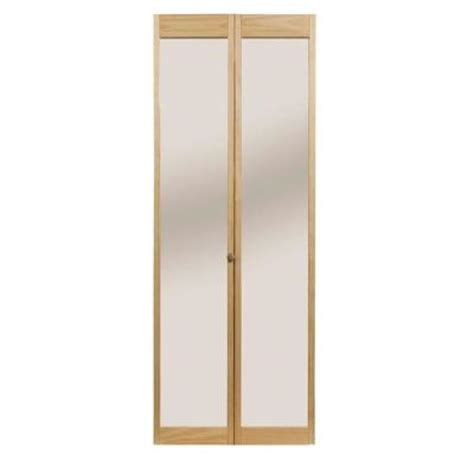 32 Bifold Closet Doors Pinecroft 32 In X 80 In Traditional Mirror Wood Universal Reversible Interior Bi Fold Door