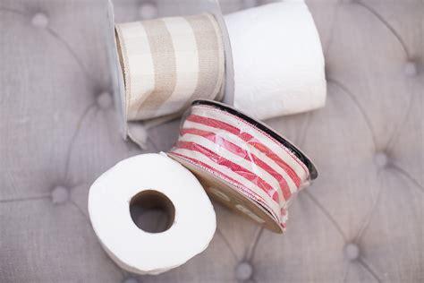 toilet rag diy oversized ribbon rag ball ornament