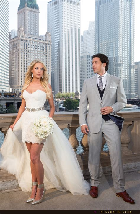 Chicago Wedding Photographers by Natalie Ed Swiderski Tribune Tower Chicago Wedding
