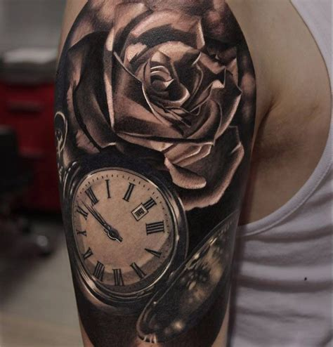 pocket watch and roses tattoo pocket roses http tattooideas247 pocket