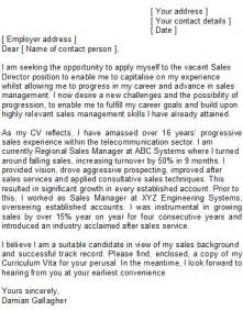 cover letter for regional sales manager position