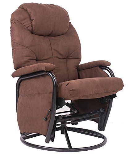Fabric Glider Recliner With Ottoman Brown Luxury Suede Fabric Nursery Glider Rocking Chair 360 176 Swivel Glider Recliner Chair With