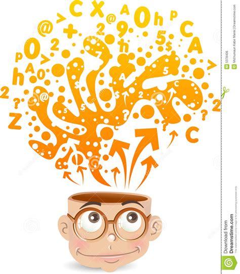 imagenes de inteligente animado intelligent jong geitje vector illustratie afbeelding