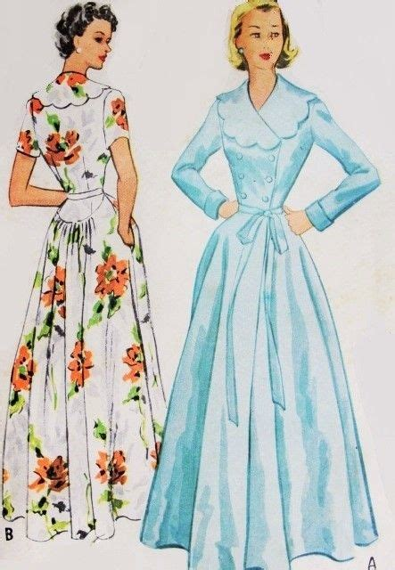 vintage housecoat pattern 1000 images about gowns on pinterest sewing patterns