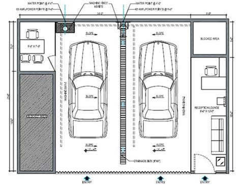 car wash floor plan design consultancy
