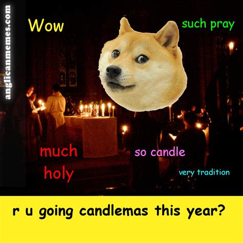 Christmas Doge Meme - so candle doge anglican memes