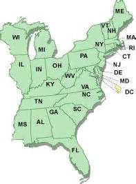 map of eastern united states with capitals kiger association and registry