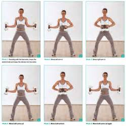 Arm exercises with weights fully equipped for awesome aqua