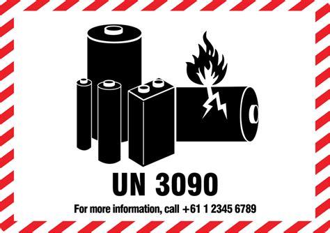 Guru Labels Packaging Lithium Battery Caution Labels International Lithium Labels Lithium Ion Battery Label Template