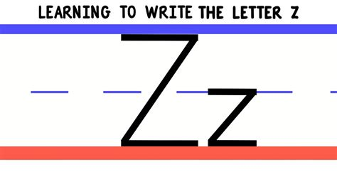 Language Letter Z write the letter z abc writing for alphabet