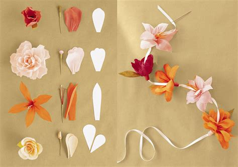 How To Make Paper Flower Garland - diy inspiration pretty paper flowers maegan
