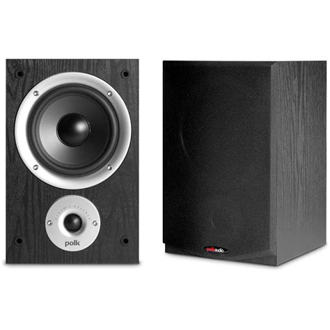 polk audio r150 5 25 quot 100w passive 2 way bookshelf r150 b h