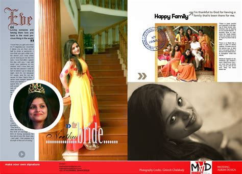Home Design Magazine In Kerala madmediamala some stunning trendy wedding album designs