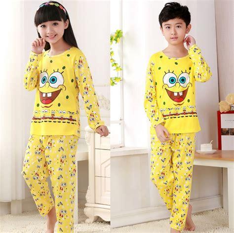 Piyama Sleepwear Character Stln Set Kid Piyama Spongebob buy wholesale sponge characters from china sponge