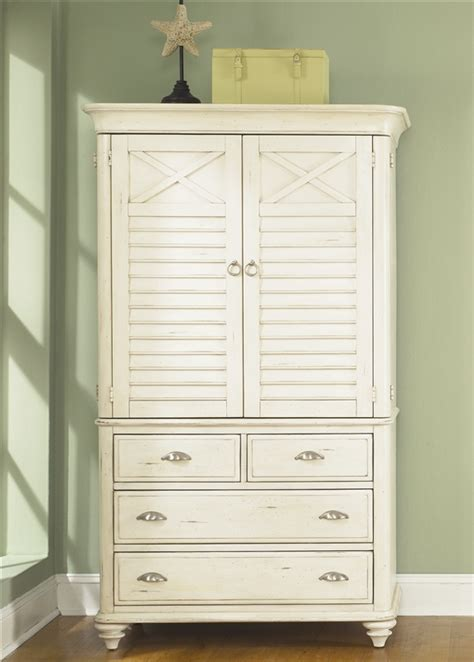 ocean isle bisque and natural pine file ocean isle armoire in bisque with natural pine finish by