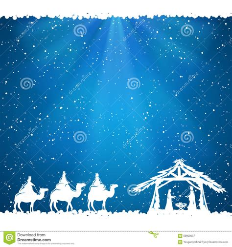christmas theme on blue background stock vector image