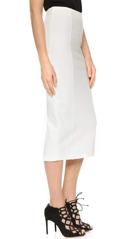 beard vail high waisted skirt in white lyst