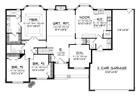 three car garage house plans numberedtype