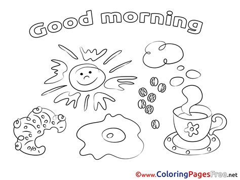 Good Sheets | coffee good morning coloring pages free