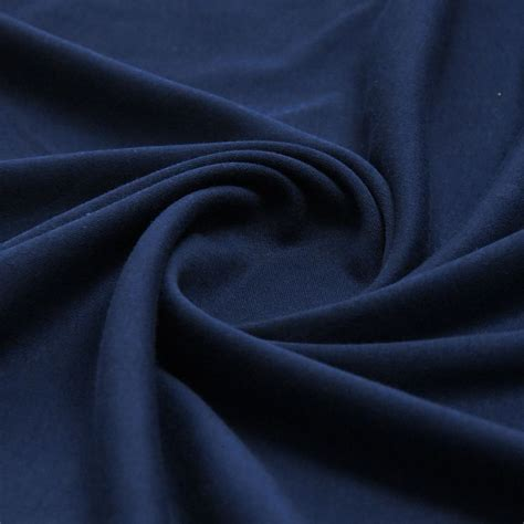 160 50cm1pc good quality cotton knitted fabric 100 navy plain 100 cotton interlock double jersey