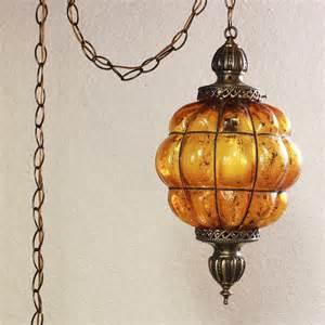 vintage hanging light hanging l globe crackle