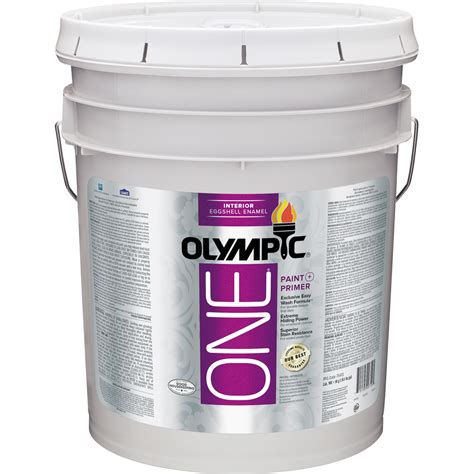 shop olympic one one tintable eggshell enamel interior paint and primer in one actual net