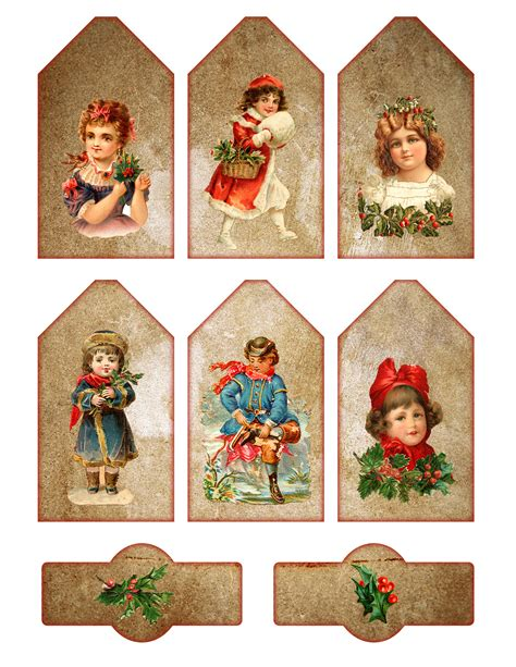 printable christmas vintage free printable vintage tags pictures to pin on pinterest
