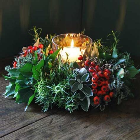 christmas candle wreath winter solstice pinterest
