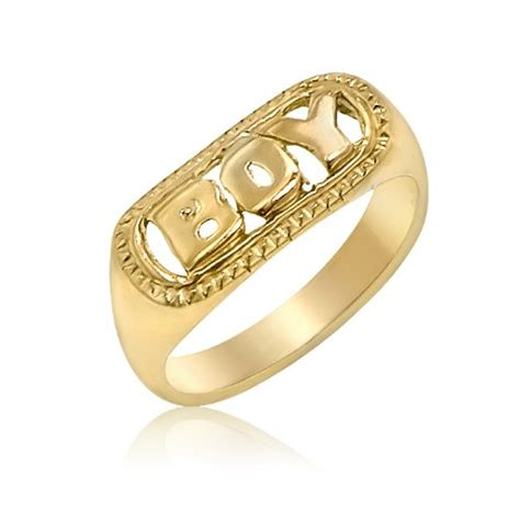 boys rings 14k yellow gold children s quot boy quot ring