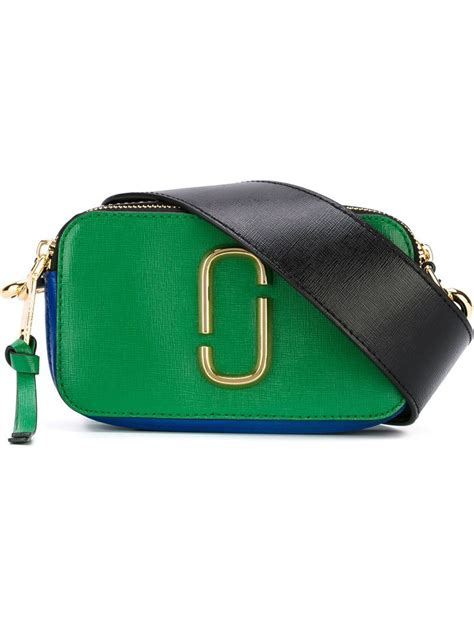 Marc Jacob Snapshot 5031 Embos lyst marc snapshot colourblock saffiano crossbody bag in green