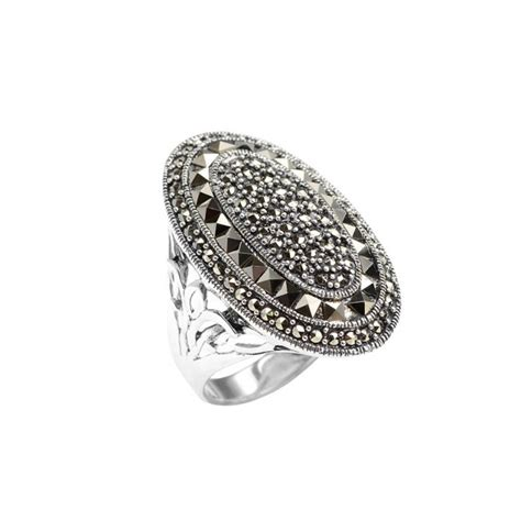 sterling silver marcasite ring rings