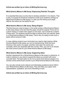 Patriotism In America Essay by About Me Essay