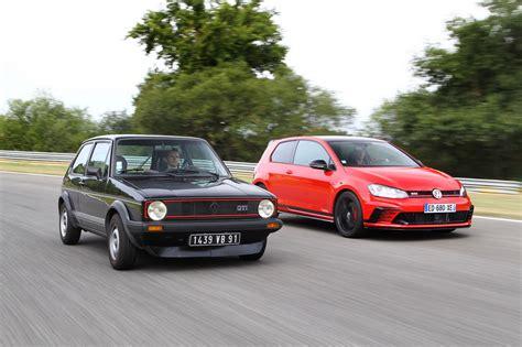 Volkswagen Gti Vs Golf volkswagen golf 1 gti vs golf 7 gti clubsport c 233 tait