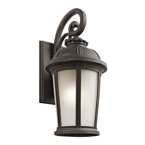 Bronze Landscape Lighting Shop Kichler Ralston 25 In H Rubbed Bronze Outdoor Wall Light At Lowes