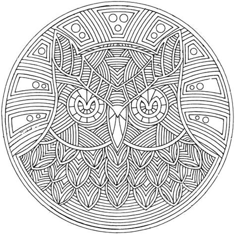 mandala coloring pages owl owl bird mandala coloring pages artists