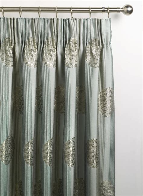 pencil pleat curtains on a pole linen lace and patchwork house