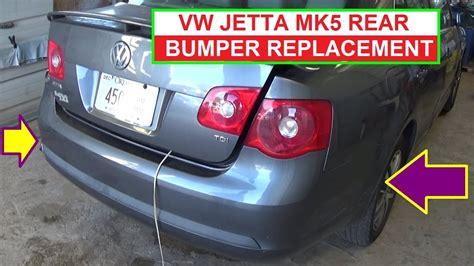 remove  replace rear bumper  vw jetta mk