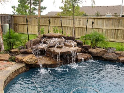 diy pool waterfall 17 simply gorgeous pool waterfall ideas