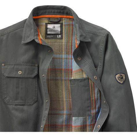 Rugged Mens Shirts by Legendary Whitetails S Journeyman Rugged Shirt Jacket