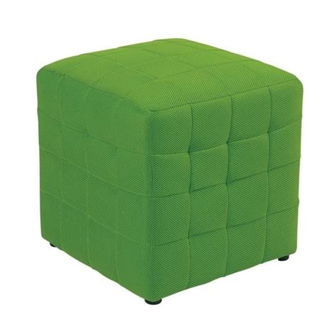 fabric ottoman cube features