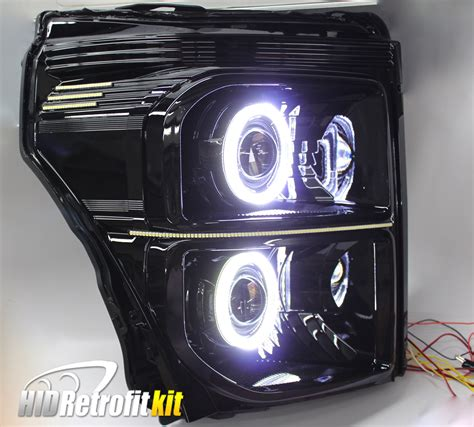 250 Led Headlights by 11 16 Ford F250 Superduty Led Projector Headlights