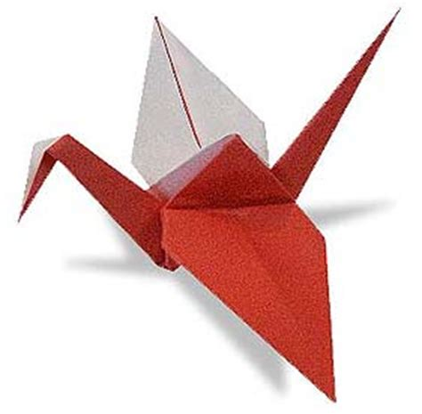 Origami Club Crane - origami and white crane 1