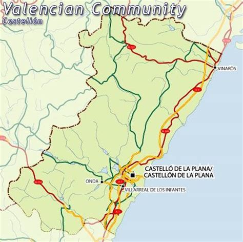 castellon spain map of castellon map for planning your in